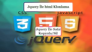 jquery-satir-kopyala