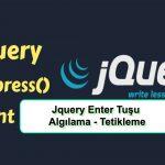 Js ile Enter Tuşu Algılama- Tetikleme